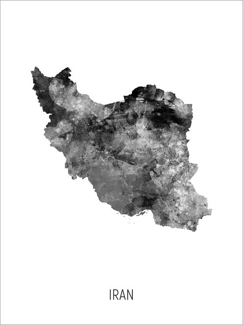 Iran Map Poster Art Print