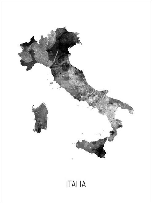 Italia Map Poster Art Print