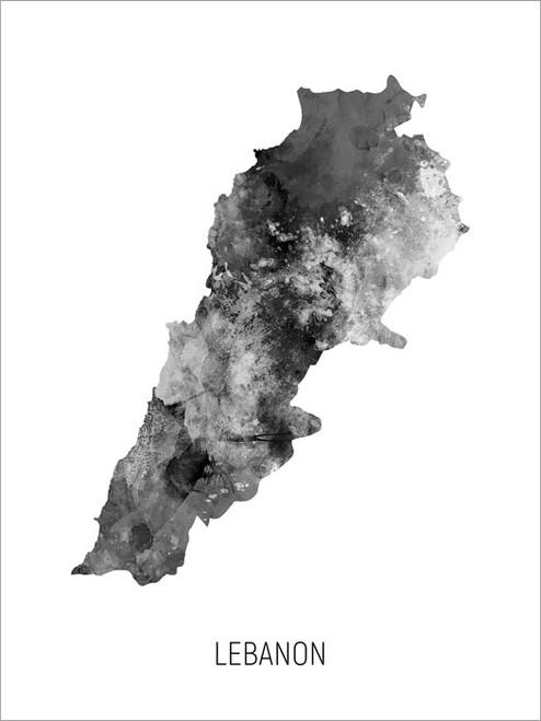 Lebanon Map Poster Art Print
