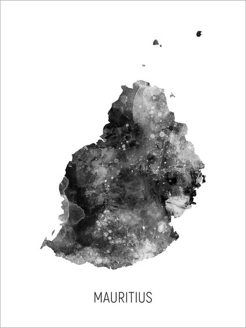 Mauritius Map Poster Art Print
