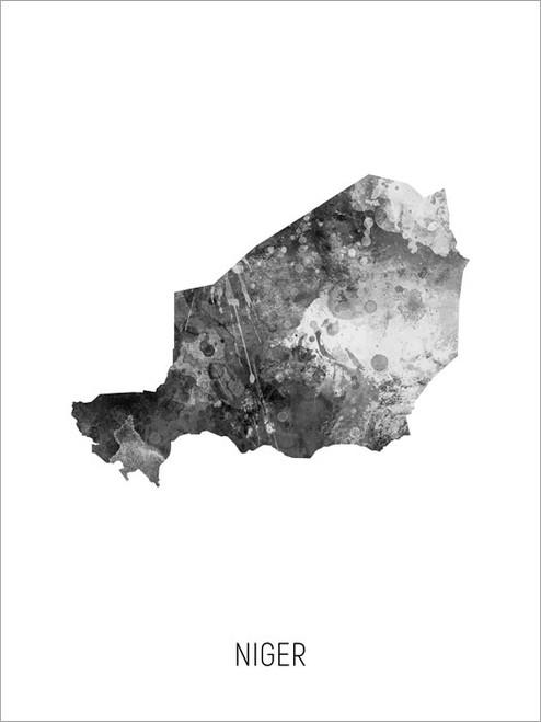 Niger Map Poster Art Print