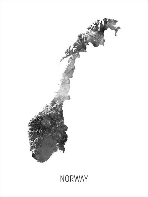 Norway Map Poster Art Print