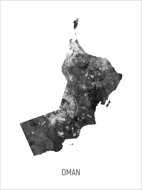Oman Map Poster Art Print