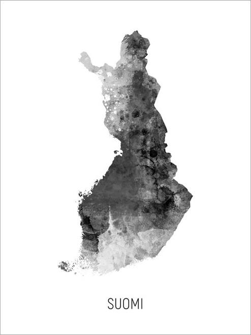 Suomi Map Poster Art Print