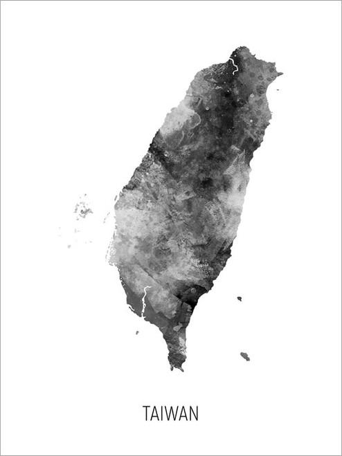Taiwan Map Poster Art Print