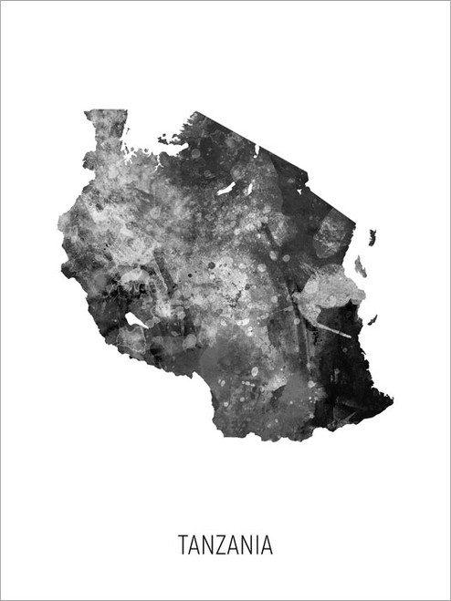 Tanzania Map Poster Art Print