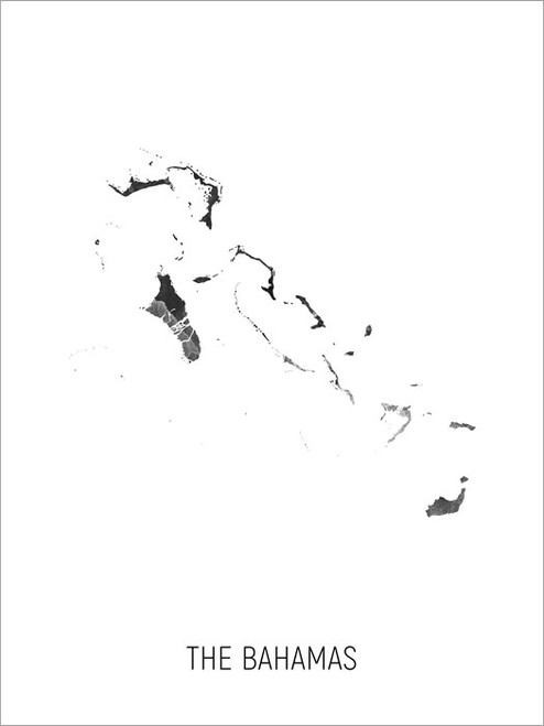 The Bahamas Map Poster Art Print