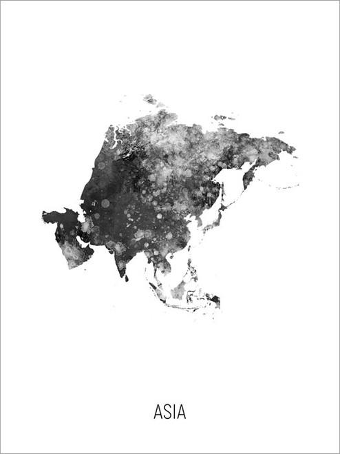 Asia Map Poster Art Print