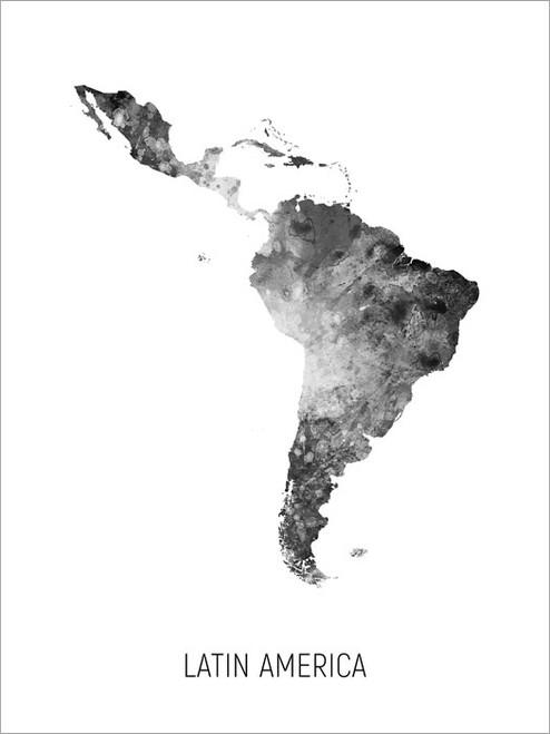 Latin America Map Poster Art Print