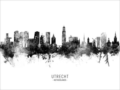 Utrecht Netherlands Skyline Cityscape Poster Art Print