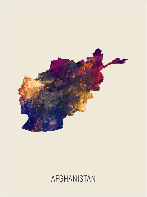Afghanistan Map Poster Art Print
