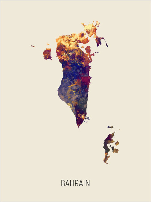 Bahrain Map Poster Art Print