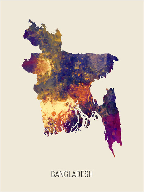 Bangladesh Map Poster Art Print