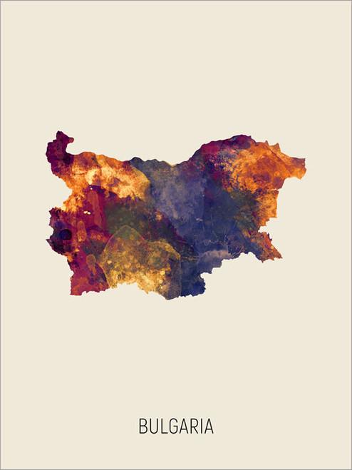 Bulgaria Map Poster Art Print