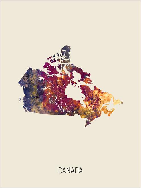 Canada Map Poster Art Print