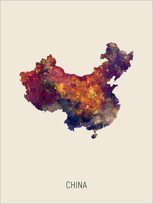 China Map Poster Art Print