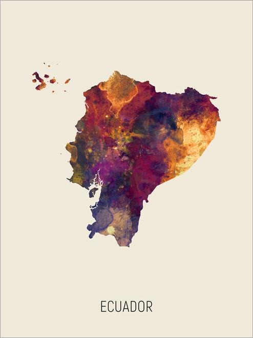 Ecuador Map Poster Art Print