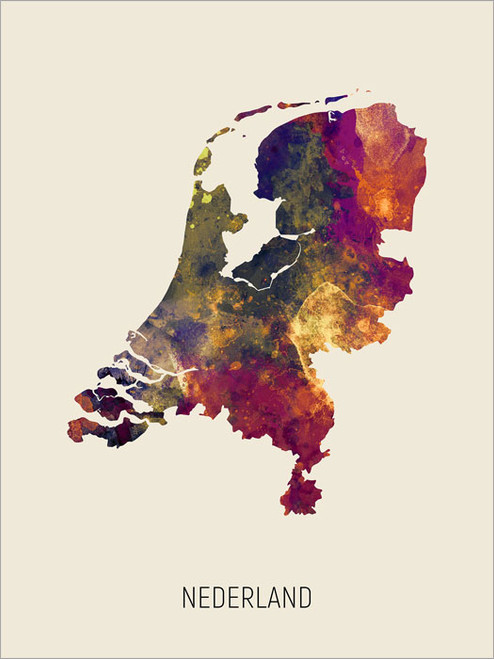 Nederland Map Poster Art Print