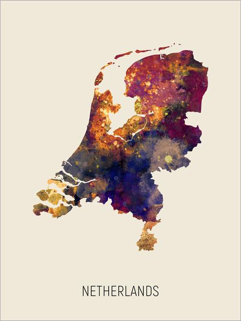 Netherlands Map Poster Art Print