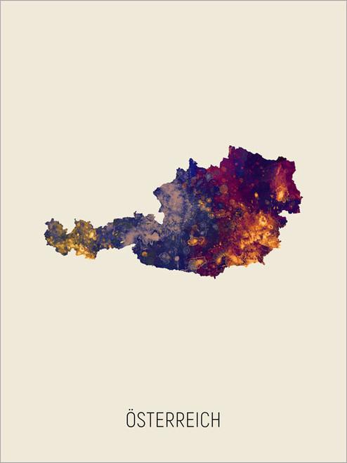 Österreich Map Poster