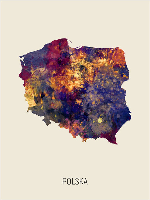 Polska Map Poster Art Print