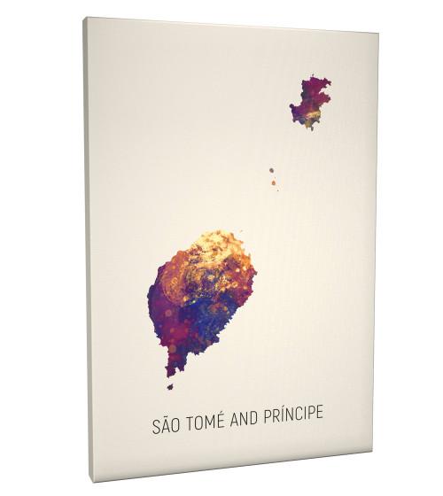 São Tomé and Príncipe Map Box Canvas