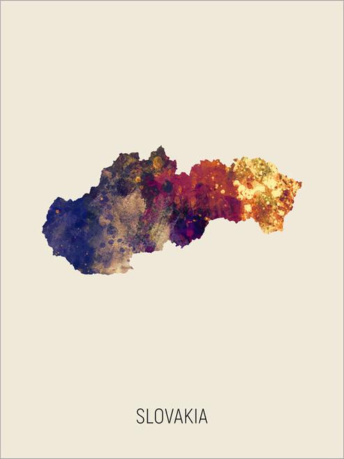 Slovakia Map Poster Art Print