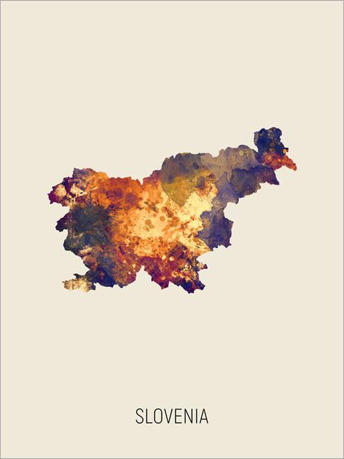 Slovenia Map Poster Art Print