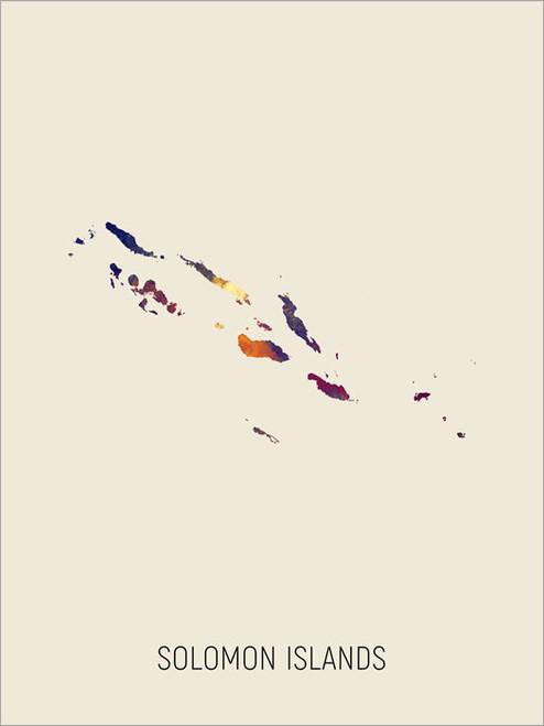 Solomon Islands Map Poster Art Print