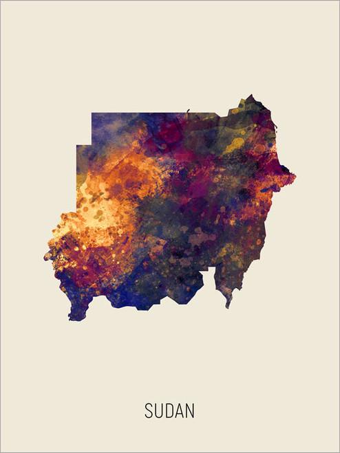 Sudan Map Poster Art Print