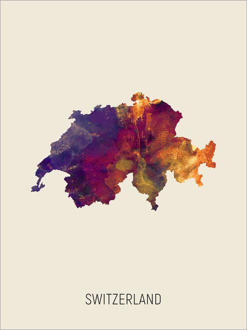 Switzerland Map Poster Art Print