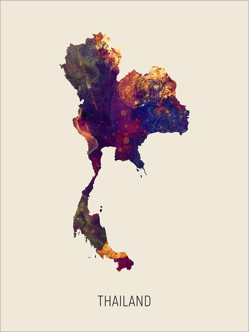 Thailand Map Poster Art Print