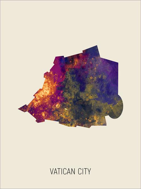 Vatican City Map Poster Art Print