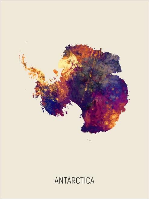 Antarctica Map Poster Art Print