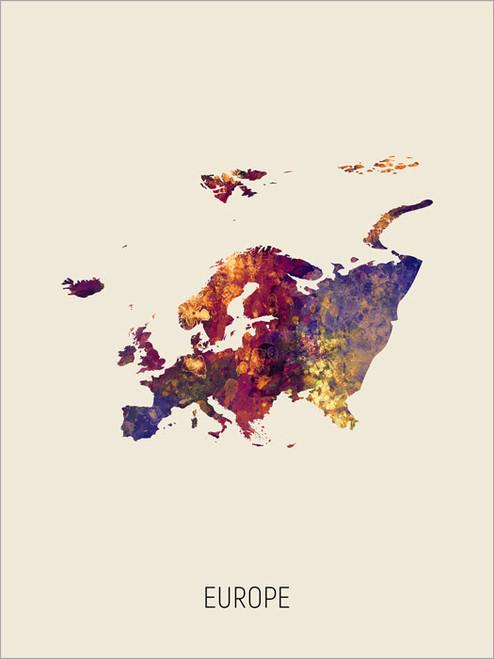 Europe Map Poster Art Print