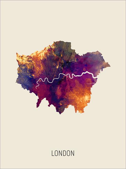 London Map Poster Art Print