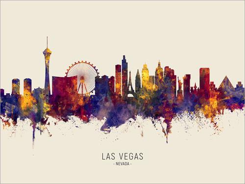 Las Vegas Nevada Skyline Cityscape Poster Art Print