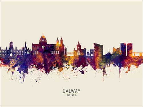 Galway Ireland Skyline Cityscape Poster Art Print