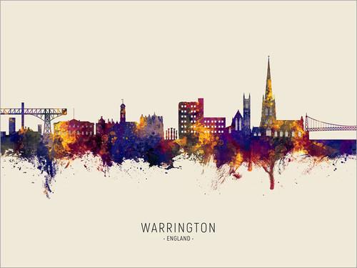 Warrington England Skyline Cityscape Poster Art Print