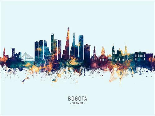 Bogotá Colombia Skyline Cityscape Poster Art Print