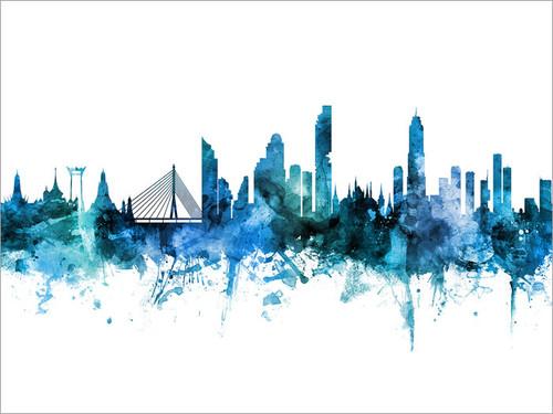 Bangkok Thailand Skyline Cityscape Poster Art Print