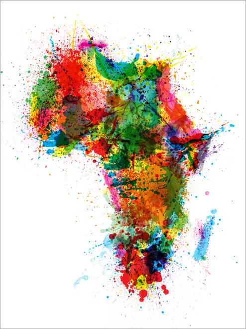 Africa Map Poster Art Print