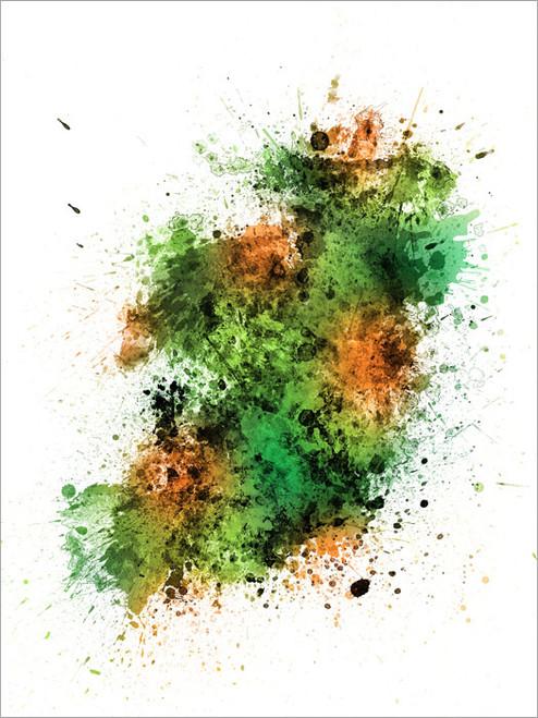 Ireland Map Poster Art Print