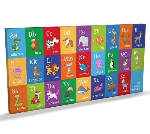 Children Animal Alphabet Box Canvas