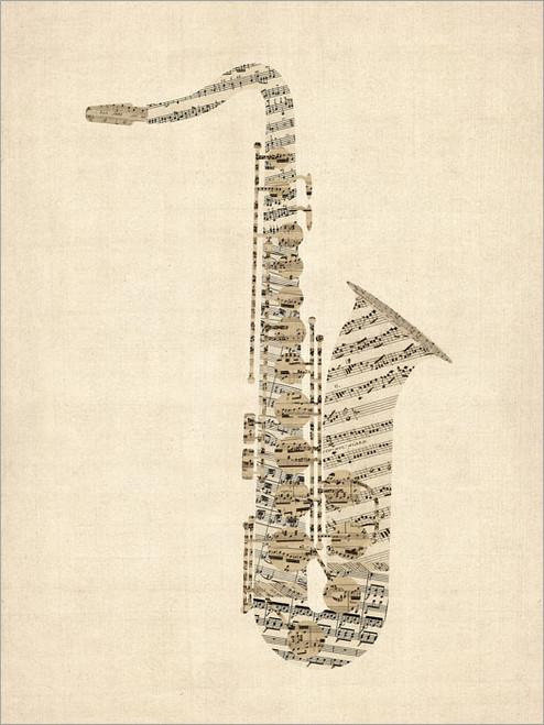 Saxophone Poster Art Print