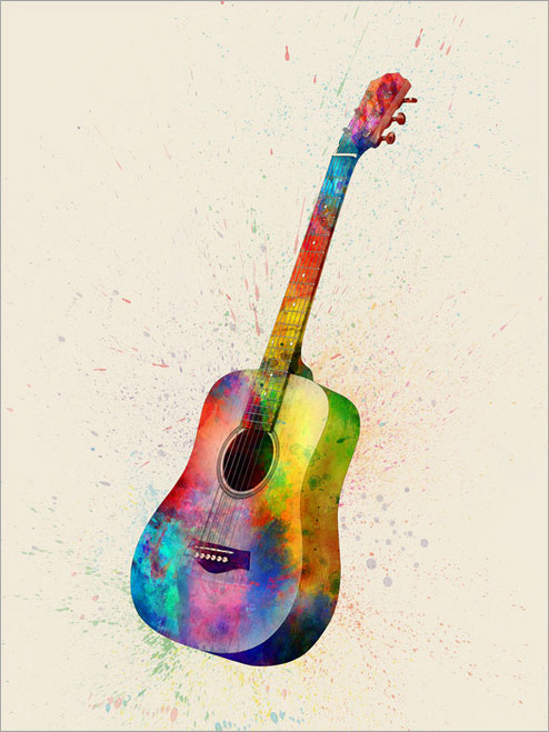 Electric Guitar Poster Art Print