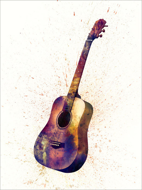 Acoustic Guitar Poster Art Print