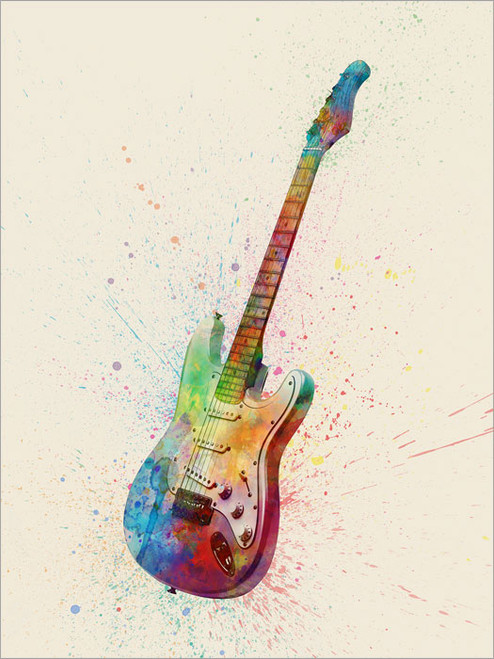 Electric Guitar Poster Art Print