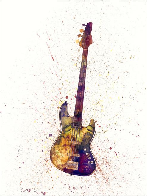 Bass Guitar Poster Art Print