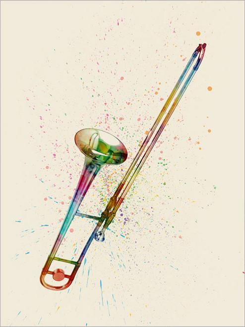 Trombone Poster Art Print
